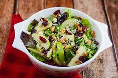 Apple Walnut Cranberry Salad ~ http://FlavorMosaic.com