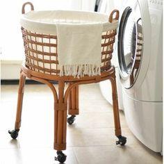 Rolling Wicker Laundry Basket | Joss & Main Canvas Laundry Hamper, Wicker Laundry Hamper, Laundry Cart, Laundry Room Storage, Wicker Baskets, Laundry Baskets, Laundry Basket On Wheels, Rolling Laundry Basket, Laundry Station