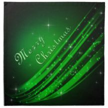 Green Merry Christmas Cloth Napkin
