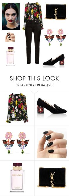 """""""Girl power 🌹"""" by sleepintheclouds ❤ liked on Polyvore featuring Dolce&Gabbana, Prada, Incoco and Yves Saint Laurent"""