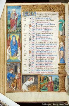 August - Book of Hours - France, Paris, ca. 1500 - MS H.5 fol. 4v