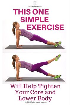 This One Simple Exercise Will Help Tighten Your Core and Lower Body via @dailyhealthpost