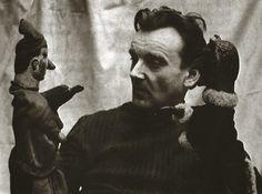 Henrik Kemény with the Hungarian folk hero Vitéz László, 1974 Hooked Nose, Nerve Fiber, Punch And Judy, Puppet Theatre, Marionette, Thats The Way, Puppets, Art Dolls, Masks