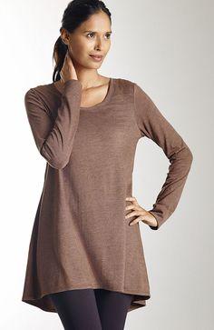 knit tops & tees > Pure Jill shirred-back tunic at J.Jill