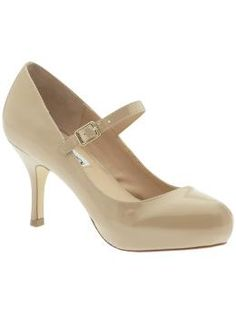 I love these Steve madden pumps via Piperline.com! The color is perfect for the current nude-colored shoes trend, and the mary-jane style strap would keep even my thin feet from getting too sore!