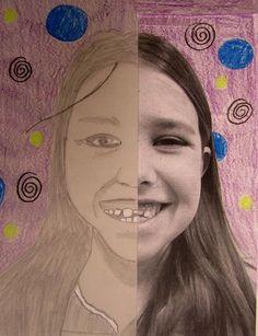 """Claire's Primary School Art: """"Myself"""", Senior Classes Primary School Art, Middle School Art, Elementary Art, Art School, Kindergarten Art Projects, School Art Projects, All About Me Art, 5th Grade Art, Fourth Grade"""
