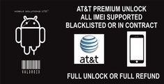 At&t Premium Unlock. iPhone 4S, 5, 5S, 5C, 6, 6+, 6S, 6S+, 7, 7+. All Imei Supported. (Blacklisted, In contract, Unpaid Bills, Reported)