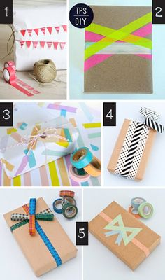 Gi det videre | Pay it forward: Innpakning med washi tape - Washi tape wrapping