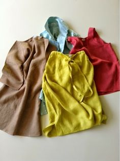 "What I ordered from my CSA... ahh! ""le bouton studio modifies dress, broad shirt, drawstring skirt, tank"""