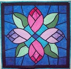 stained glass window quilt patterns for beginners - - Yahoo Image Search Results