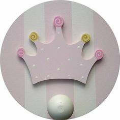 Princess Crown Wall Peg Set of 2