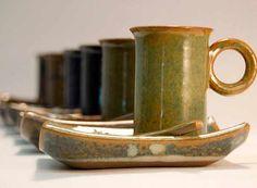 Xícaras de café da ceramista Hideko Honma