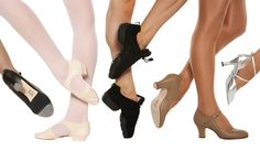 Dance Shoes - Different Shoe Types Kid Shoes, Ballet Shoes, Dance Shoes, Ballroom Shoes, Costume, Types Of Shoes, Dance Wear, Character Shoes, Legs