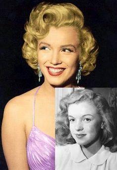 Marilyn Monroe Childhood --> Adult