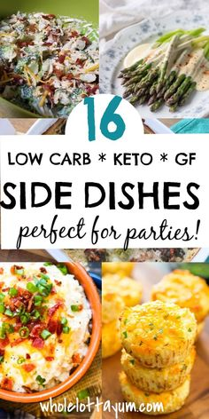 4 Points About Vintage And Standard Elizabethan Cooking Recipes! 16 Low Carb And Keto Side Dishes That Make Easy Dinner Recipes For Holidays, Bbq's And Parties. You'll Love These Keto Sides For Holidays Such As Easter, Christmas, Of July, Thanksgiving Easter Side Dishes, Side Dishes For Bbq, Low Carb Side Dishes, Side Dish Recipes, Easy Dinner Recipes, Low Carb Recipes, Healthy Recipes, Dinner Ideas, Dishes Recipes