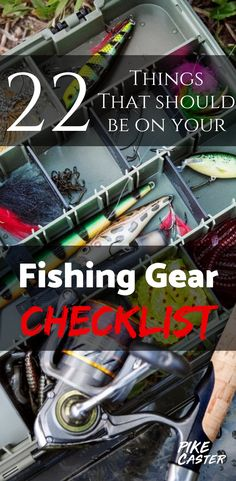 To be best prepared for your fishing trip, it's a great idea to have a checklist of gear you might need when you're at the location. Fishing Line Knots, Fly Fishing Gear, Crappie Fishing, Fishing Life, Best Fishing, Ice Fishing, Fishing Rods, Fishing Tackle, Carp Fishing