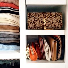 Organized clutches.