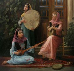 Old Persian Style Art Arabe, Arabian Art, Graphisches Design, Islamic Paintings, Persian Culture, Realistic Paintings, Wow Art, Classical Art, Ancient Art