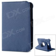 IKKI 360 Degree Rotating Flip-open PU Case w/ Stand for Samsung Galaxy Tab 3 Lite T110 - Blue Price: $9.52