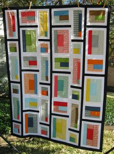 """Rapid City Quilt Top - This is a modification of the Rapid City pattern in the book """"Modern Patchwork"""" Quilting Tips, Quilting Projects, Quilting Designs, Modern Quilting, Quilt Design, Machine Quilting, Scrappy Quilts, Baby Quilts, Mini Quilts"""