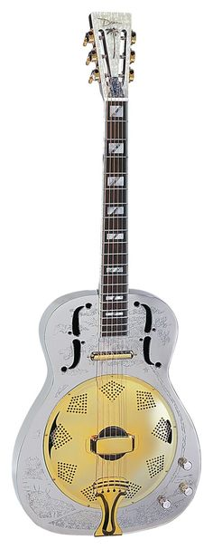 Dean Chrome Thin Body Acoustic Electric Resonator Guitar - <3'd by Stringjoy Custom Guitar & Bass Strings. Create your signature set today at Stringjoy.com #guitar #guitars #music