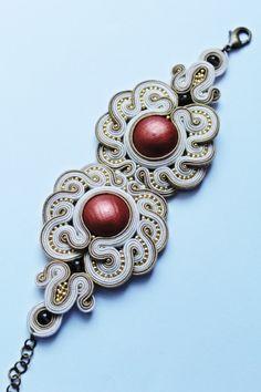 Owl bracelet soutache by GosiaBizu.deviantart.com on @DeviantArt