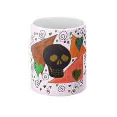 Gothic Skull by EelKat - Coffee Mug