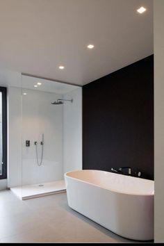 Home Sweet Home » Mooie balans tussen architecturale eenheid en eigenheid in dit duoproject #moderndesignbathrooms Modern Bathroom Design, Modern Bathrooms, Nickel Finish, Brushed Nickel, Wall Hanger, Toilet Paper, Adhesive, Wall Mount, Wall Installation