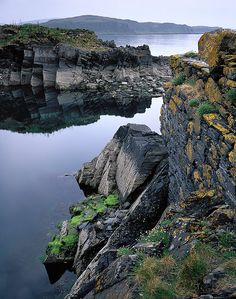SCOTLAND....Easdale Harbour - Stillness by Tim Parkin Easdale (Scottish Gaelic: Eilean Èisdeal) is one of the Slate Islands, in the Firth of Lorn, Scotland. Once the centre of the British slate industry, there has been some recent island regeneration.