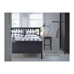 HEMNES Table de chevet - brun noir - IKEA