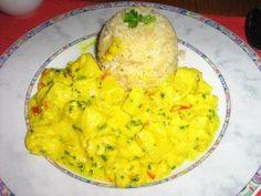 Das perfekte Pangasiusragout mit Ananas in einer Kräuter-Currysoße an Langkornreis-Rezept mit einfacher Schritt-für-Schritt-Anleitung: Pangasiusfilet…