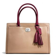 Coach Legacy Large Chelsea Carryall In Two Tone Leather ($398)