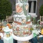 this is simply gorgeous: stained glass wedding cake