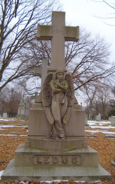 Angel in Waiting Located at Calvary Cemetery in St. Louis, MO. Escape to the Silent Cities: Calvary Cemetery