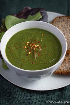 Super Healthy Green Soup via Queen of Quinoa