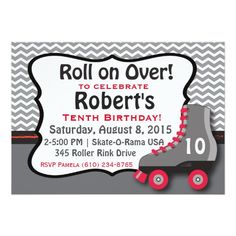 445 Best Roller Skating Birthday Party Invitations Images In 2019