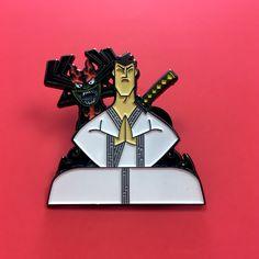 Samurai Jack and Aku Enamel Pin, made in honor of the upcoming 5th and final season!