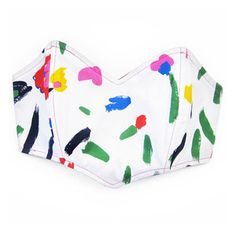 Floral Bustier Top White Crayon, $39, now featured on Fab.