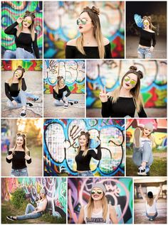 Blaynee | Senior 2018 | Northwest High School  senior, pictures, photography, portraits, high school, urban, graffiti, colorful, edgy, skater, girl, sunglasses, space buns, beanie, skateboard, styled, shoot, session, fort worth, dfw, texas, tx www.kyleeswisherphotography.com