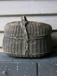 Panier French Baskets, Old Suitcases, Market Baskets, Basket Bag, Velvet Ribbon, Perfectly Imperfect, Shades Of Grey, Trunks, Boxes