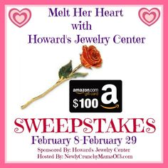 Melt Her heart With Howard's Jewelry Center $100 Amazon GC and 24K Gold Dipped Rose GIVEAWAY #Sponsored #ThisIsCle 2/29 - Newly Crunchy Mama Of 3