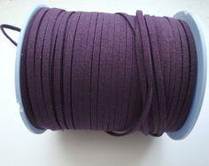 3m purple faux suede cord 3mm wide jewellery by BlackPearlBeadsUK