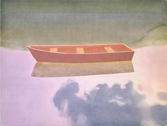 Mark Adams - Rowboat in Water - watercolor on paper - 22.5 x 30""