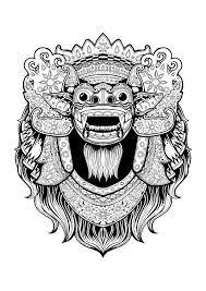 Resultado de imagen para barong mask drawing