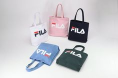 7293b51b8c FILA Court Eco Shopping Travel Shoulder Bag Foldable Grocery Canvas NWT  F3BCZ310  FILA  MessengerShoulderBag