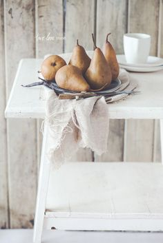 Gingerbread Loaf with Spiced Poached Pears and Vanilla Bean Cream — Two Loves Studio | Food Photography