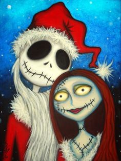 *JACK SKELLINGTON & SALLY ~ The Nightmare Before Christmas, 1993