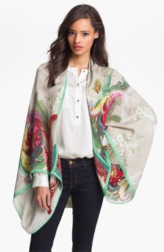 Ted Baker London Silk Cape available at #Nordstrom