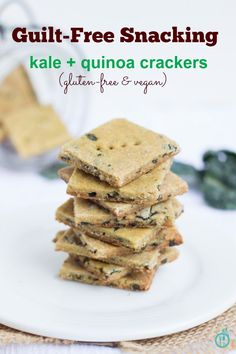Cheezy Kale + Quinoa Crackers - a healthy, gluten-free & vegan snack (that's totally guilt-free)