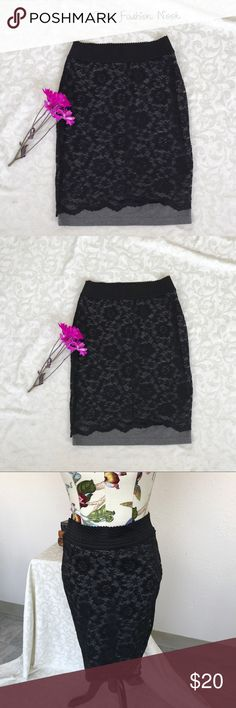 💠Just in💠 Maurices-Black lace body con skirt 🌼Brand: Maurices🌼 Color(s): black lace over gray lining  Size: medium Zipper: no, pull up Stretch: yes Fabric Content: shell 93% nylon 7% spandex lining 71% polyester 27% rayon 2% spandex  Condition: EUC! Note: no flaws! Beautiful skirt with lace outer and thick, sturdy lining.   Measurements: Length: ~25.5 inches Waist: ~14.5 inches across unstretched   📦Bundle your likes, and I will send you a no obligation offer. Or, submit a reasonable…